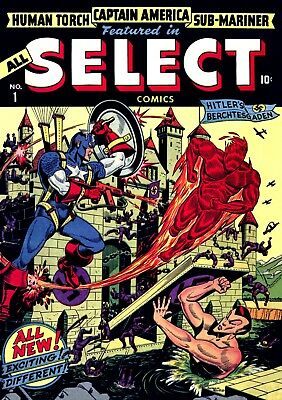 All Select Comics #1 (1943)  Photocopy Comic Book - Human Torch Cap Submariner
