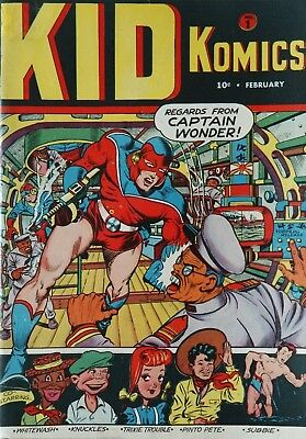 Kid Komics #1 (1943)  Photocopy Comic Book - Captain Wonder 1St App Intro Timely