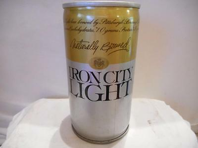 Iron City Light RARE Naturally Brewed STEEL PULL TAB TOP 12oz VINTAGE BEER CAN