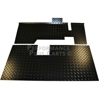EZGO TXT Golf Cart Black Diamond Plate Floor
