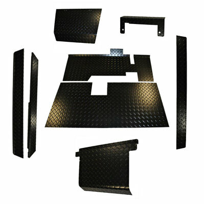 EZGO Golf Cart Black Diamond Plate Combo Accessory Kit with Floor