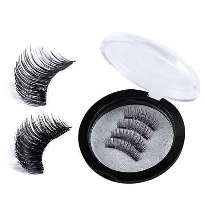 Double Magnetic Eyelashes 3D False Eye Lashes Natural Magnet Extension 2 Pairs.