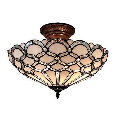 Tiffany Ceiling Light Lights Stained Glass Lighting Lamp Entryway Room Fixture