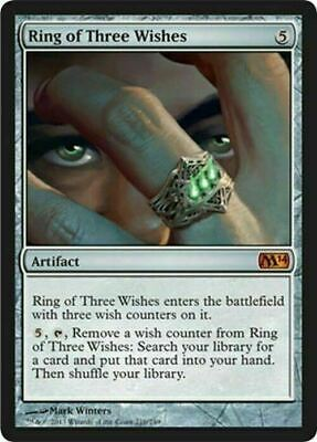 Ring of Three Wishes ~ Magic 2014 ~ NearMint ~ Magic The Gathering