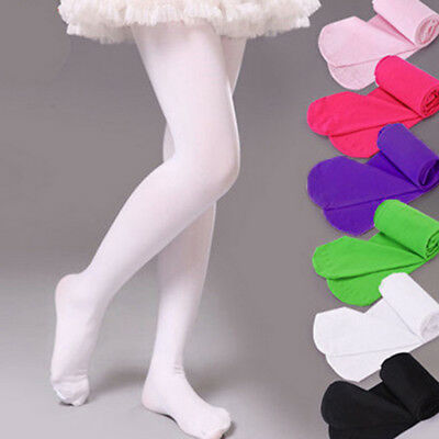 Children Full Length Tights Pantyhose Girls - WHITE - 2 Pairs (6 TO 12 YEARS)