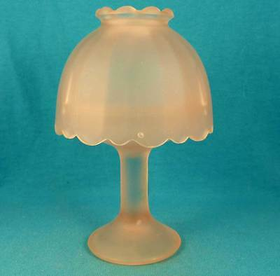 pink glass fairy lamp possible vintage or antique depression glass Excellent