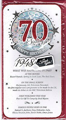 2018 special year you were born 1948 birthday card 70th 70 today
