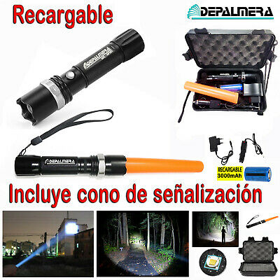 LINTERNA LED RECARGABLE ZOOM 88000 DE LED CREE T6 FULL PACK Cargador + Bateria