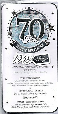 2018 Special Year You Were Born 1948 Birthday Card