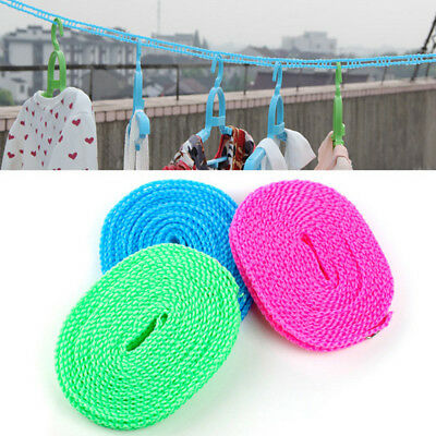 1PCS Fence Anti-Skid Clotheslines Windproof Outdoor Travel Drying Laundry Lines