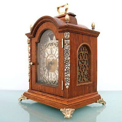 WARMINK CLOCK Mantel TOP!! Dutch Moonphase HIGH GLOSS DOUBLE Bell CHIME! Vintage