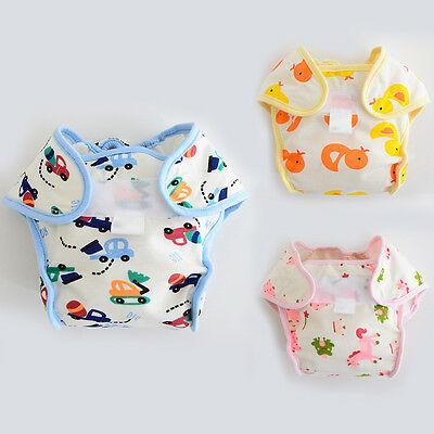 Infant Baby Reusable Washable Cloth Diaper Kids Nappy Cover Adjustable Diapers A