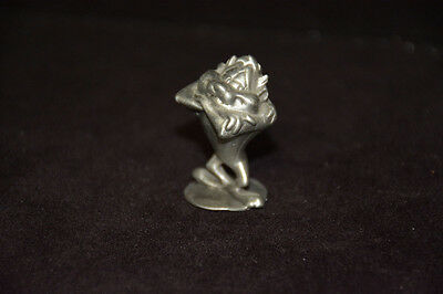 """Rawcliffe pewter figure - Tasmanian Devil with arms folded - 1 1/2"""" H x 1"""" W"""