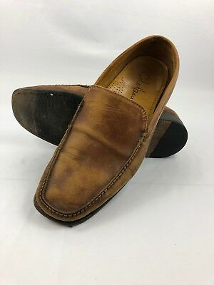 Mens Cole Haan C05195 Light Brown Leather Loafer Dress Shoes Sz 10M