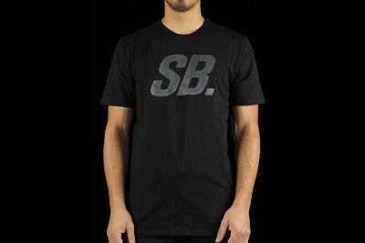 111b9363b SZ SMALL RARE Nike Men's SB Icon Read Crew Neck T-Shirt Tee Black 715731