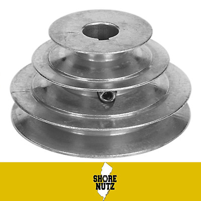 "3 Step Pulley # 145 X 5/8 Bore 3/16 Keyway 1-3/4"" 2-1/4"" 2-3/4"" 1/2 Wide Belt"