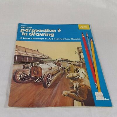 Enjoy Perspective in Drawing NO 13 - Crafting Mfg Co -Vintage Paperback Art 1972