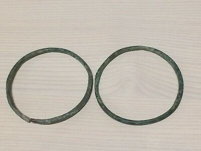 LAC Lovely Ancient Roman, c. 1st-4th century AD. Pair of Bronze bracelet !!! (8)