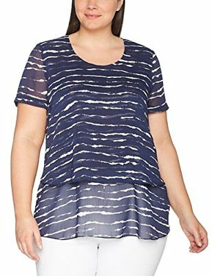 SAMOON by Gerry Weber Spice It Up, Camicia Donna, Blau (Persian Blue Druck 8022