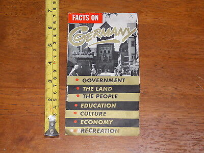 Brochure Old Vintage Facts On Germany Government Culture Economy