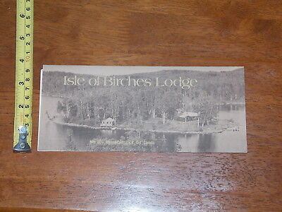 Brochure Old Vintage Isle Of Birches Lodge Algoma Central Railroad Canada