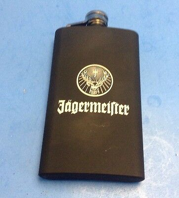 jagermeister flask jager black liquor 5 .25 inches tall Used