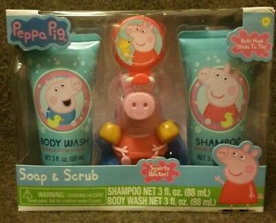 PEPPA PIG SOAP & Scrub Set with character bath squirter NEW IN ...