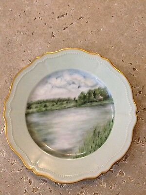 Vintage Hand Painted O&E.G. Royal Austria Buckland Plate Thick Gold Trim