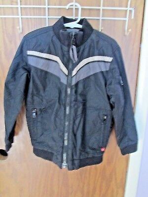 "Quicksilver Boy's Size 5/6? Black+Gray Reversable-16""a-A---18"" Sh-Hem-Coat/jacke"
