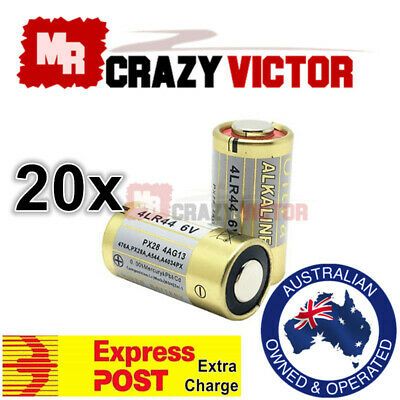 20x 4LR44 6V Battery for Citronella Bark Dog Collar L1325 PX28A A544 V34PX 476A