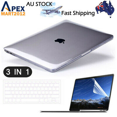"Glossy Clear Hard Shell Case Keyboard Cover MacBook Air 11"" Pro 13/15"" Retina 12"