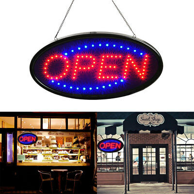"Ultra Bright LED Neon Light OPEN Business Sign 19x10""Animated Motion With ON/OFF"