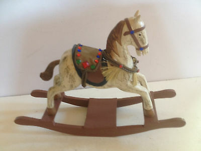 Beautiful Unique Hand Crafted Wooden Rocking Horse In Box