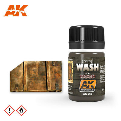 AK Interactive 263 - WASH FOR WOOD - Holzlasur - 35 ML (12,14 € / 100 ml)