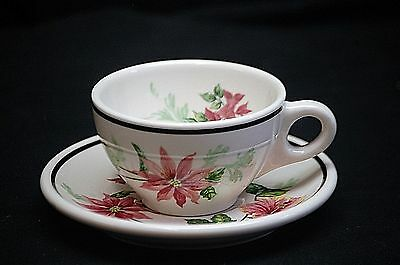 Vintage Syracuse China Flowers of the Southland Cup & Saucer Set Restaurant Ware