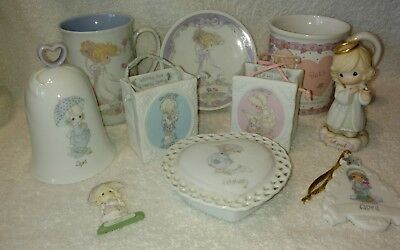 Precious Moments Ceramic Bags With Assorted Items.