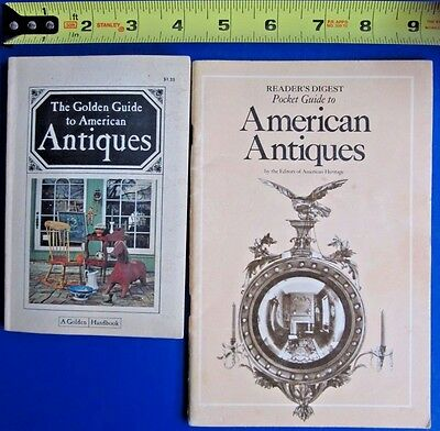 Lot of Two Antique Collectors Pocket Guide Books- Golden Guide/Reader's Digest