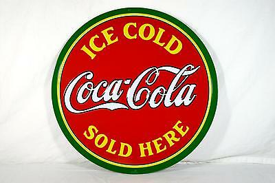 Ande Rooney Tin Sign - Ice Cold Coke Sold Here Coca Cola - New