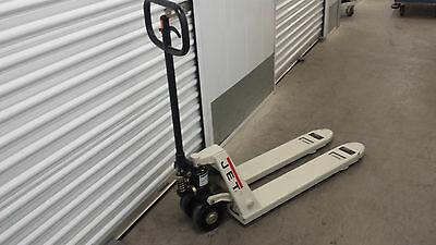 "JET narrow PT-1636J, 16"" x 36"" 5,000 LB Capacity Pallet Jack Truck- Great shape"