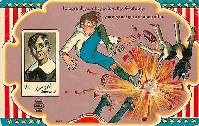 Patriotic~July 4th Firecracker Series~Photograph Your Boy Before He Blows Up~Dog