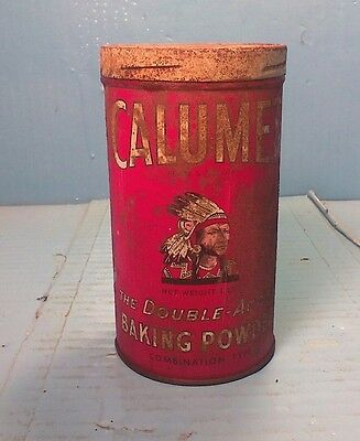 Vintage Calumet Double Acting Baking Powder Tin 1Lb. Tin Only