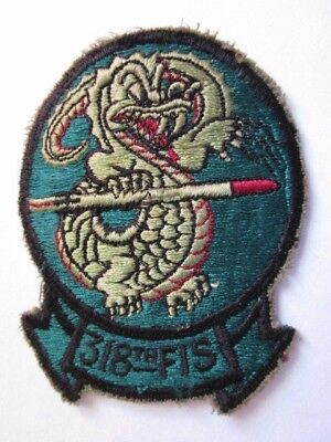 Post Vietnam 318th Tactical Fighter Squadron Sleeve Patch ~ Flight Suit Removed!