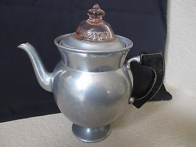 Vintage Coffee Maker Universal #74 Metal Stove Top Pedestal  Peculator 1904