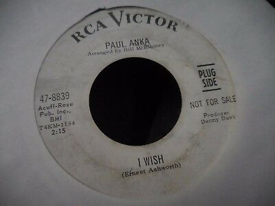 Paul Anka==I Wish  B/w  I Went To Your Wedding==45==Vg+