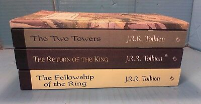 Lot of 4 Paperback Books By JRR Tolkien~2001 Lord of the Rings & companion