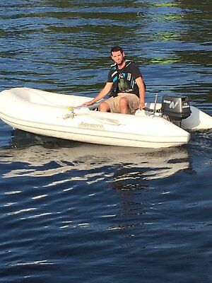 AquaPro Inflatable 10' w/9.8 HP Nissan 2-Stroke Outboard