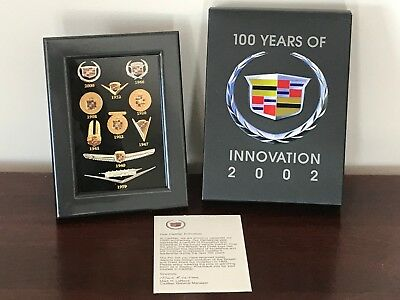 Cadillac 100 Year of Innovation 2002 Pin Display Set