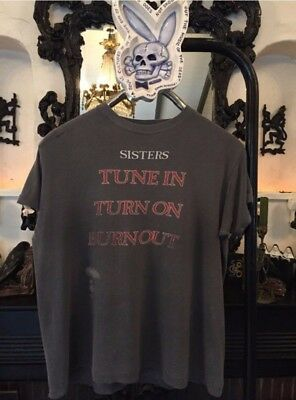 Sisters Of Mercy Shirt 1980s Vintage Goth Tee Death Rock tShirt Rare Paper Thin