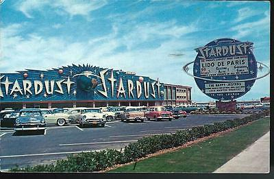 1966 STARDUST RESORT HOTEL & CASINO Lido de Paris Las Vegas Nevada Postcard