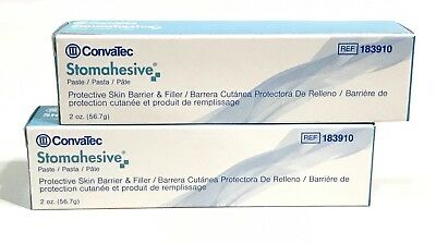 Convatec Stomahesive Paste 183910 - Two (2) 2oz. tubes Dated 2021